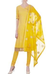 yellow-chanderi-kurta-set