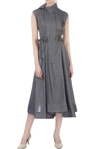 grey-wrap-around-midi-dress
