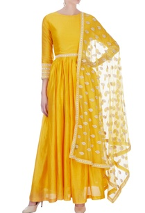 yellow-dots-embroidered-anarkali-suit
