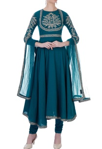 blue-zari-embroidered-anarkali-suit-set