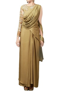 sage-green-crepe-silk-sari-gown