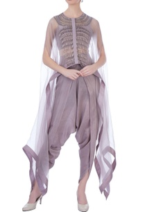 mauve-organza-silk-embroidered-cape-with-dhoti-pants-and-bustier