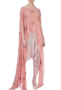 peoder-pink-onion-pink-georgette-silk-embroidered-cape-with-dhoti-pants