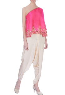 pink-beige-dupion-silk-embroidered-blouse-with-dhoti-pants