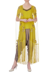 yellow-grey-georgette-silk-embroidered-dhoti-pants-with-jacket