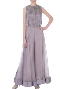 mauve-organza-silk-solid-palazzo-pants-bustier-with-fringed-cape