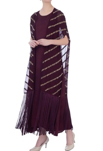 wine-silk-embroidered-cape-with-dress