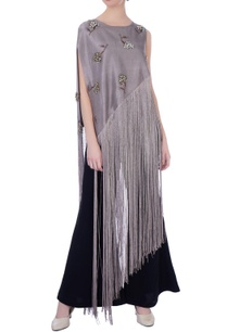 grey-georgette-silk-embroidered-cape-with-pants