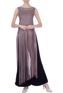 mauve-synthetic-silk-embroidered-cape-with-pants