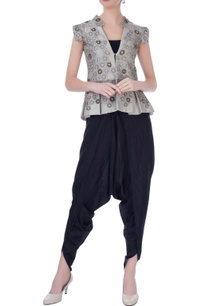 grey-silk-embellished-jacket-with-dhoti-pants-bustier