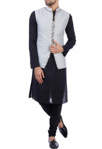 grey-linen-printed-nehru-jacket