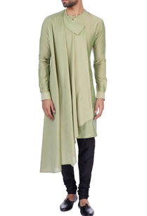 olive-modal-cotton-draped-kurta
