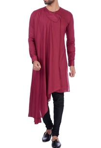 wine-modal-cotton-kurta