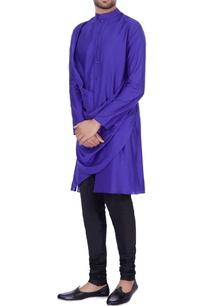 dark-blue-modal-cotton-draped-kurta