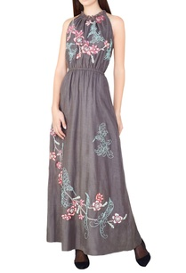 grey-hand-embroidered-maxi-dress