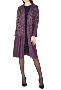 plum-hand-woven-silk-overlap-jacket