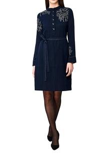 navy-blue-handwoven-cotton-shift-dress