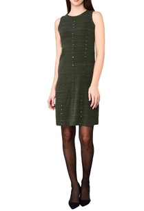 olive-green-hand-woven-midi-dress