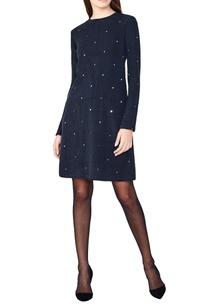 black-hand-woven-stretch-a-line-dress