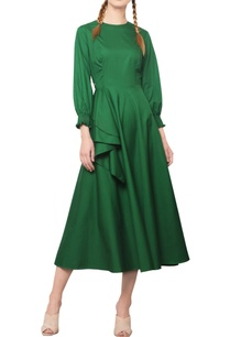 forest-green-midi-dress