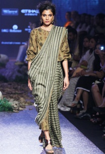 autumn-green-linen-sari