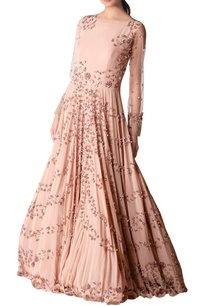 pink-georgette-embroidered-gown