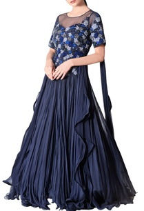blue-thread-embroidered-tulle-gown