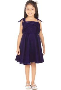 blue-velvet-polyester-dress