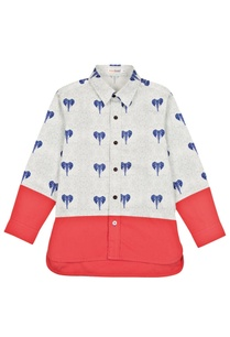 white-red-elephant-motif-shirt
