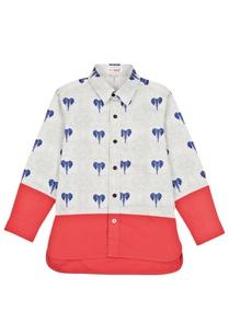 white-red-elephant-motif-shirt