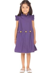 purple-ruffle-style-dress