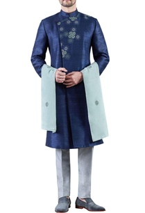 navy-blue-grey-embroidered-raw-silk-sherwani-with-trousers