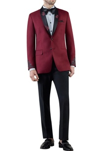 burgundy-embroidered-wool-tuxedo-jacket