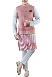 baby-pink-embroidered-worsted-wool-cotton-silk-kurta-set