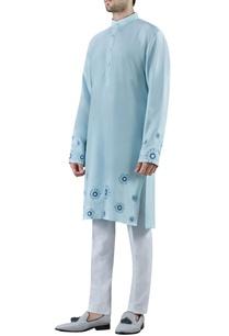 light-blue-embroidered-silk-kurta