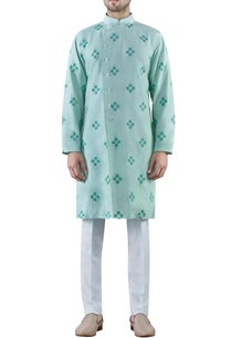 mint-green-embroidered-cotton-silk-kurta