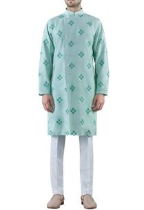 mint-green-embroidered-cotton-silk-kurta
