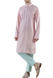 pale-pink-embroidered-raw-silk-kurta
