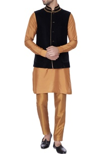 gold-embroidered-silk-kurta-set