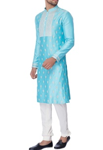 light-blue-embroidered-kurta-set
