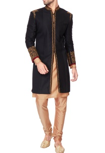 black-embroidered-italian-suiting-kurta