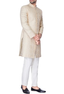 beige-self-embossed-dupion-silk-kurta