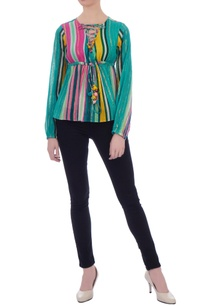 multicolored-cotton-lurex-butterfly-blouse
