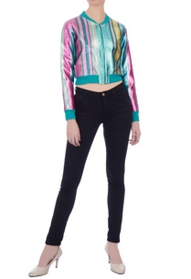 multicolored-rainbow-stripe-lurex-bomber-jacket