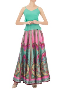 pink-kaleidoscopic-dupion-silk-skirt
