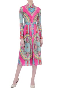 pink-ming-crepe-printed-pleated-dress