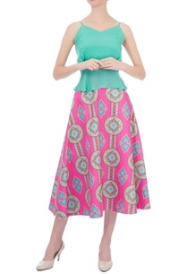 pink-blue-kaleidoscopic-printed-circular-skirt