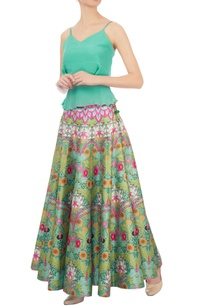pink-green-dupion-silk-paneled-maxi-skirt