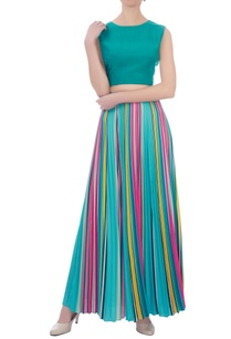 sea-green-crepe-bow-detail-top