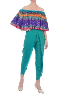 multicolored-off-shoulder-bandeau-top